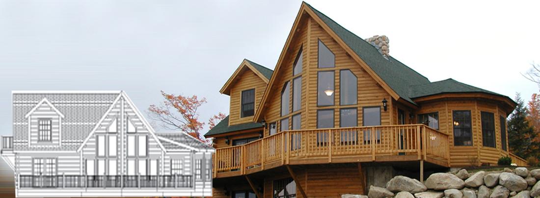Cedar Log home Construction